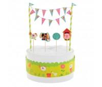 Декор-комплект для торта «Забавная ферма»