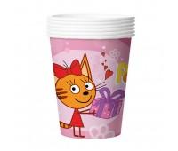 Стакан розовый «Три кота» (6 шт.)