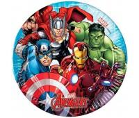 Тарелки «Мстители Mighty Avengers» (8 шт.)
