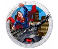 Тарелки «Бэтмен против Супермена» 20 см (8 шт.)
