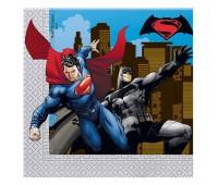 Салфетки «Бэтмен против Супермена» (20 шт.)
