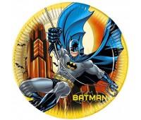 Тарелки «Бэтмен Dark Hero» 23 см (8 шт.)