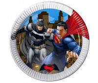 Тарелки Бэтмен против Супермена 23 см (8 шт.)
