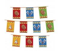 Гирлянда-флажки «Индейцы» (10 м)