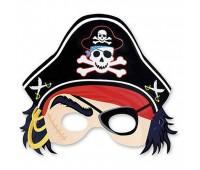 Полумаска «Пират» (8 шт.)