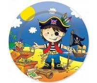 Тарелка «Маленький пират», 17 см (6 шт.)