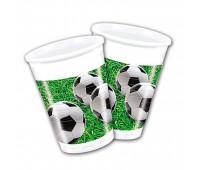 Стакан «Футбол» зеленый (8 шт.)