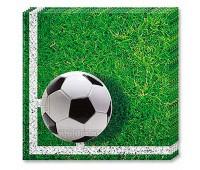 Салфетки «Футбол» зеленые (20 шт.)