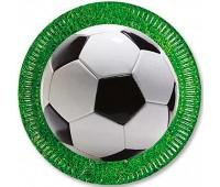 Тарелка «Футбол» зеленая 23 см (8 шт.)