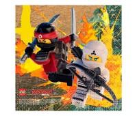 Салфетки «Лего Ниндзяго» 25 см (16 шт.)
