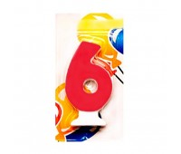 Свеча-цифра 6 Цветная