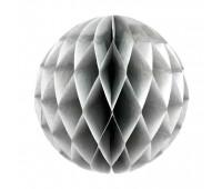 Шар бумажный серый (30 см)