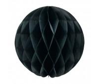 Шар бумажный черный (30 см)
