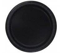 Тарелка черная (8 шт.)