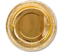 Тарелка Золото 17 см (6 шт.)