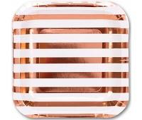 Тарелка розовое Золото 17 см (6 шт.)