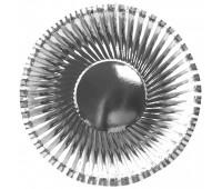 Тарелка серебро фактурная (6 шт.)