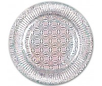Тарелка Серебро голография 18 см (6 шт.)