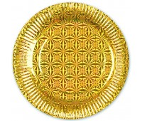Тарелки Золото голография (6 шт.)