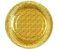 Тарелка Золото голография 18 см (6 шт.)