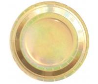 Тарелки Золото голография 23 см (6 шт.)