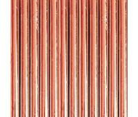Трубочки розовое золото (12 шт.)