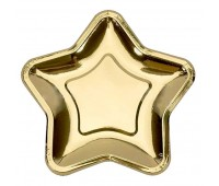 Тарелки золотая звезда 23 см (6 шт.)
