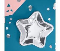 Тарелки Серебро звезда (6 шт.)