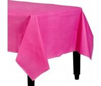 Скатерть ярко-розовая