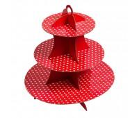 Подставка для десертов Красный горошек
