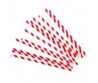 Трубочки Красные полоски (12 шт.)