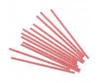 Трубочки Красные шеврон (12 шт.)