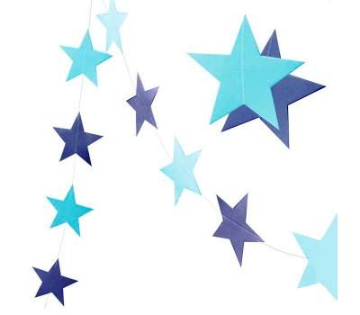 Гирлянда Звезды голубая