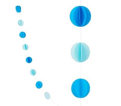 Подвеска «Круги» голубые