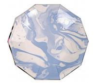 Тарелки голубые Мрамор (6 шт.)