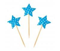 Топперы «Звезды» голубые (12 шт.)