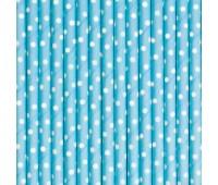 Трубочки Голубые горошек (12 шт.)