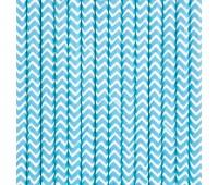 Трубочки Голубые шеврон (12 шт.)