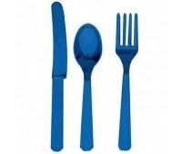 Столовые приборы синие (3х8 шт.)