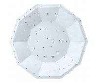 Тарелки голубые со звездами (6 шт.)