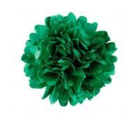 Помпон зеленый темный (30 см)