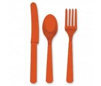 Столовые приборы оранжевые (3х8 шт.)