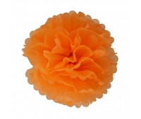 Помпон оранжевый (20 см)