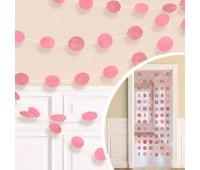 Гирлянда «Круги» розовая