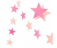 Гирлянда Звезды розовые