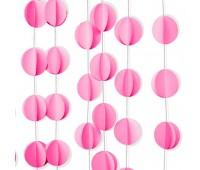 Подвеска «Круги» розовые