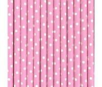 Трубочки Розовый горошек (12 шт.)