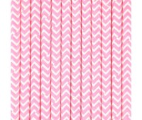 Трубочки Розовый шеврон (12 шт.)
