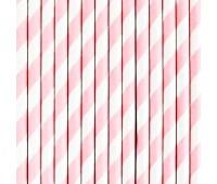 Трубочки Розовые полоски (12 шт.)