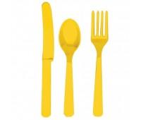 Столовые приборы желтые (3х8 шт.)